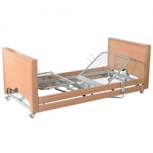 Casa Med Low FS Bed with Side Rails, profiling bed, care bed, hospital bed, care homes