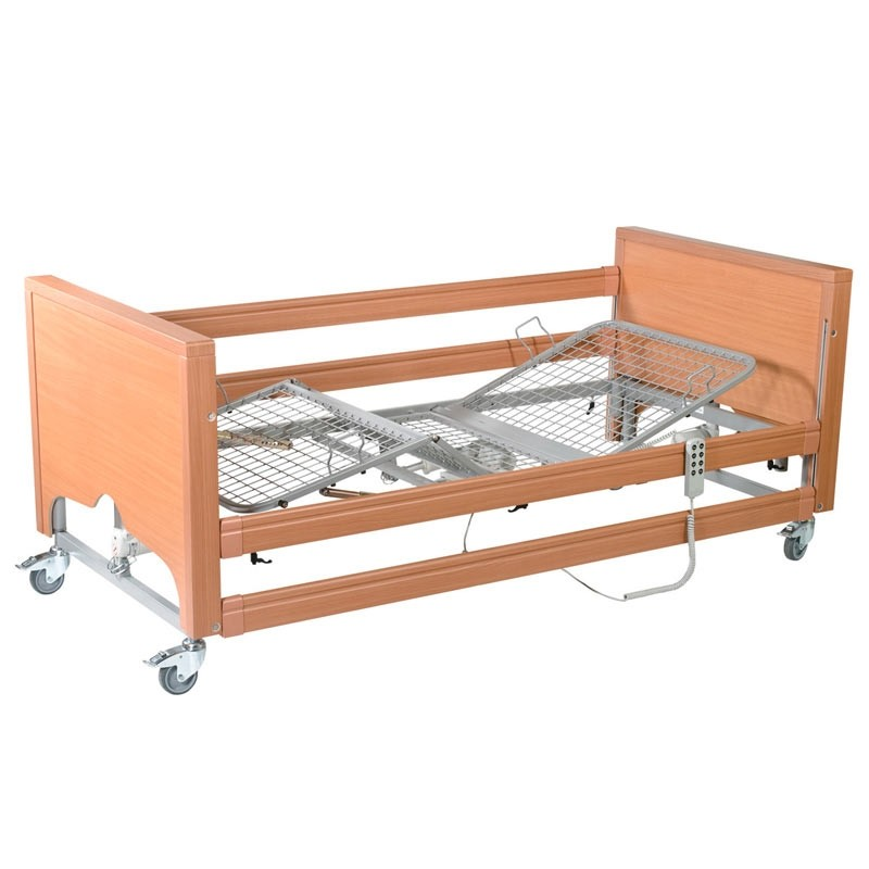 Casa Med Classic FS Bed with Side Rails, profiling bed, care bed, hospital bed