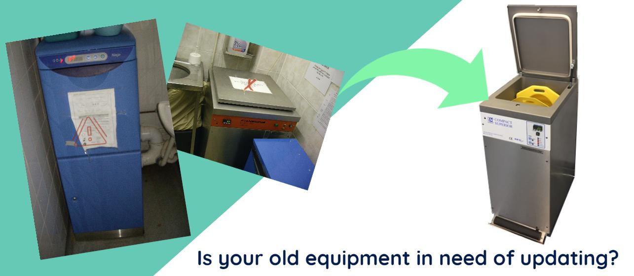 Upgrade Sluice machine equipment for infection control