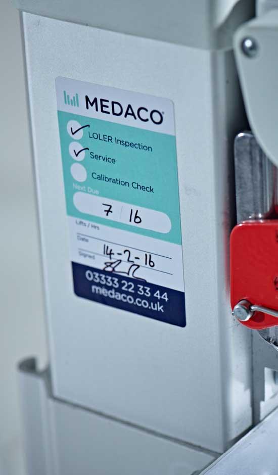 Patient Equipment LOLER sticker
